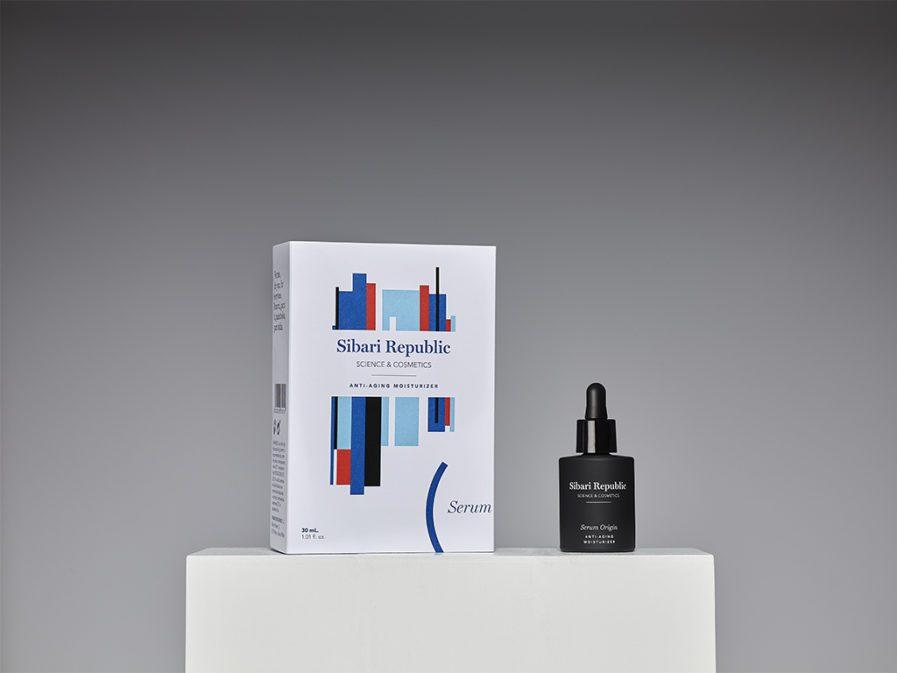 serum origin producto y packaging peana