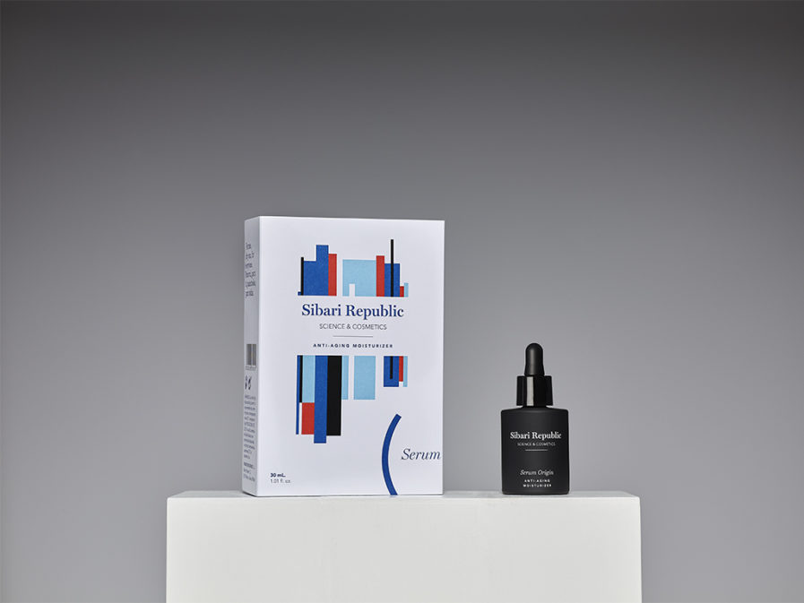 serum origin producto y packaging peana